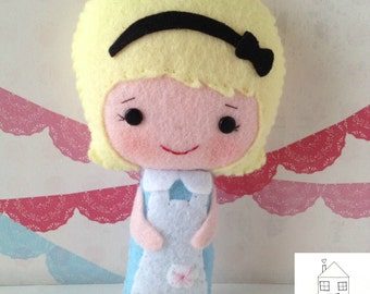 Alice in Wonderland Felt Doll