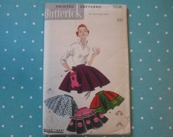 Vintage 1950's Butterick Pattern 7536