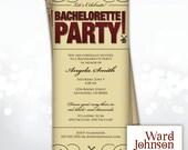 Customizable Invitation - Moulin Rouge, Showgirl, Burlesque Dancer inspired, printable