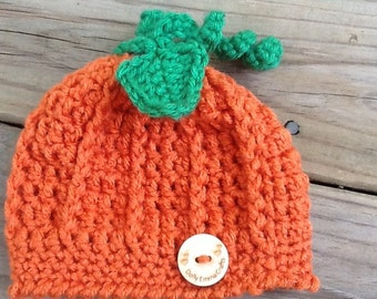 Crochet Pumpkin Beanie, Newborn Pumpkin Beanie,  Pumpkin hat Fall hat, Soft Hat, Halloween, Thanksgiving Photo prop, all sizes