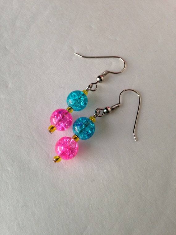 pink blue yellow earrings for girls little girl by. Black Bedroom Furniture Sets. Home Design Ideas