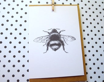 Vintage Bumble Bee Card - C01