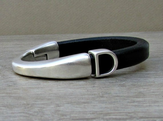 Mens Personalized Leather Bracelet Initial Bracelet Monogram Bracelet Mens Brown Black Leather bracelet Cuff Customized On Your Wrist