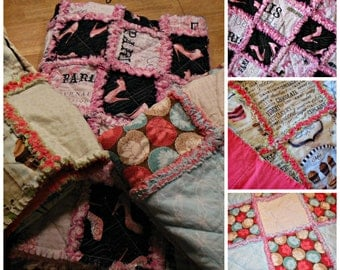 Handmade Rag Quilts, Custom Made Rag Quilts, Rag Quilts