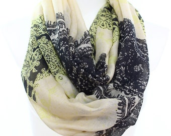 Lace Pattern Long Scarf Infinity Scarf Wraps Fall Fashion Women Fashion Accessories Holidays Gift Ideas Christmas Gift Ideas For Her