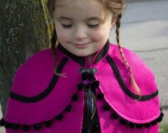 Frozen Princess Anna Cape Child's size