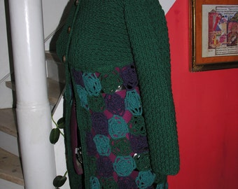 Dark green wool sweater/jacket