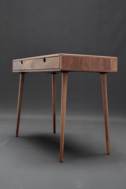solid walnut board desk bureau dressing table office desk classic mid century modern. Black Bedroom Furniture Sets. Home Design Ideas