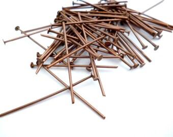 Copper Head Pins 1/3 in _30 mm_S0365364oBP_Brass Head Pins_pack 150 pcs_Copper Supplies