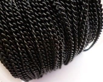 3 mm Black Chain_SO6767646545_3 meters_9 ft_ Colored Chains_Black of 3 mm_ 0/2 in