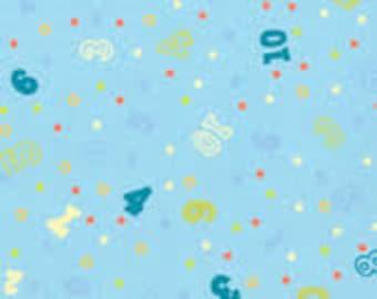 Sue Zipkin Cuddly Baby Blue Flannel-- 1/2 yard