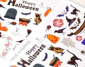 30 Halloween Decor and Functional Stickers for your Erin Condren Life Planner