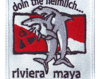 Scuba Riviera Maya Heimlich Embroidered Patch