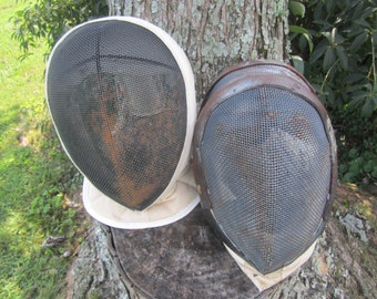 Two Vintage Fencing Masks/Helmets