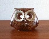 Mid Century Enesco Pottery Owl Candle Holder Japan