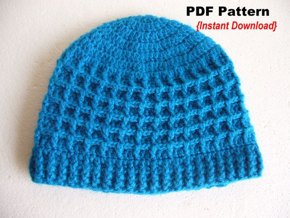 Crochet Patterns Waffle Stitch : Crochet Hat Pattern Crochet Waffle stitch hat with by Crochetkari