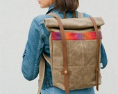 Waxed Canvas Backpack / Rolltop Backpack
