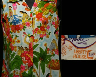 1960s Liberty House Hawaiian Blouse (M Fit)