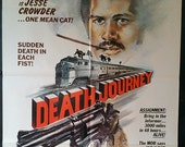Death Journey - Original 1976 Action Movie Poster - The Mob Says No Way - Fred Williamson Says Try And Stop Me!