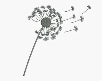 Instant Download Machine Embroidery flower  Dandelion