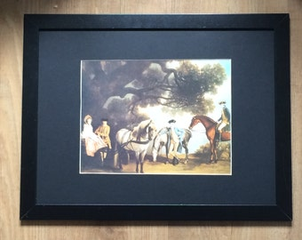 "Mares and Foals framed wall art - 16"" x 12"" , George Stubbs print, early print"