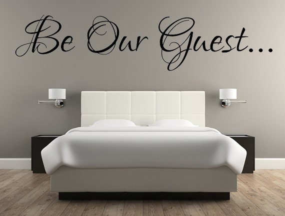 wall decals for guest bedroom be our guest decal guest room decal wall decals guest