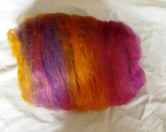 Hadell's Dance Alpaca, Bamboo, angelina purple, gold  and pink for a Dress to dance in