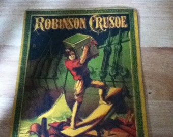 1800's children book robinson crusoe