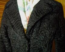 Vintage Full Length Tailored Persian Lamb Coat
