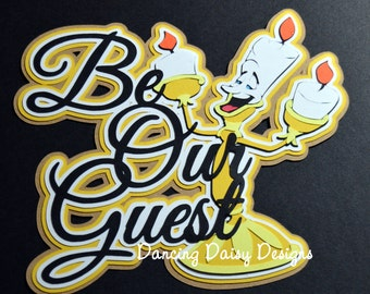 Disney Scrapbooking Dining Die Cut Be Our Guest Restaurant Beauty The Beast Paper Piecing Title