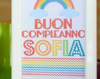 Rainbow Party Happy Birthday Poster
