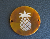 Engraved Acrylic Pineapple Discs Only for Wire Wrapped Bracelet Bauble Tortoise Shell Pearl and More Acrylic Only
