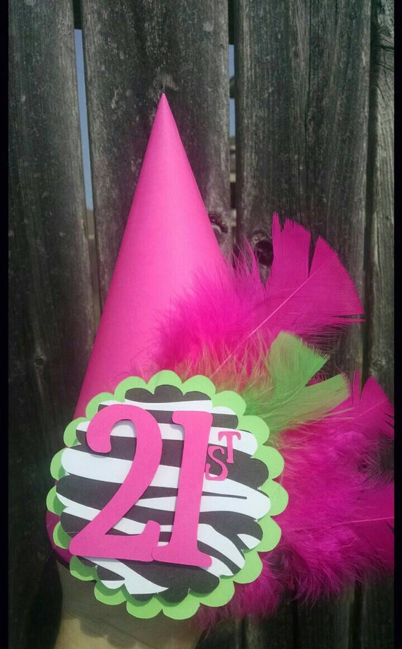 Zebra print , Party Hat, First Birthday Party Hat,