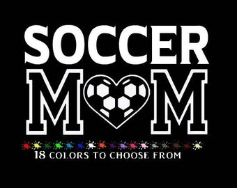 "SOCCER MOM Car Decal - Vinyl stickers  6"" decals"