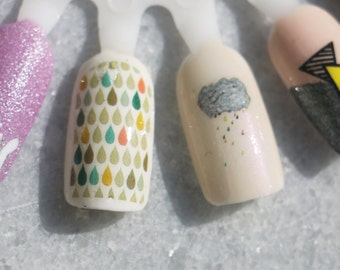 Nail Decals: Rainy Days Water Nail Decals