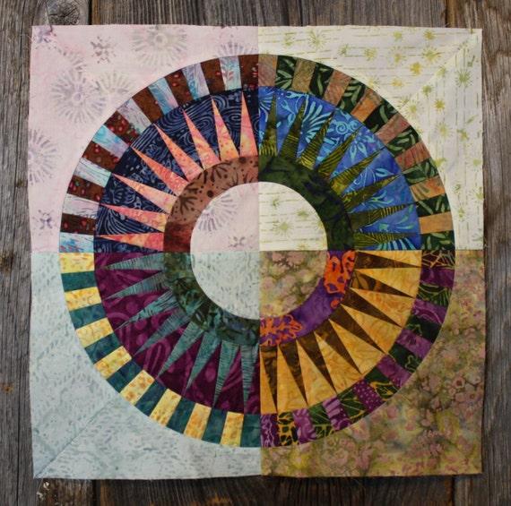 New York Beauty Quilt Block Paper Piecing Pattern Block N