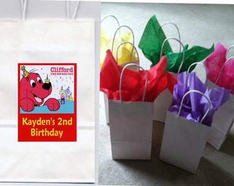 Clifford the big red dog party favor goody bags personalized set of 10