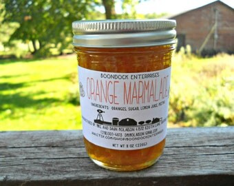 Orange Marmalade - All Natural Marmalade - Citrus Marmalade - Fresh Fruit - Jam - Jelly - Preserves - Housewarming Food Gift - Hostess Gift
