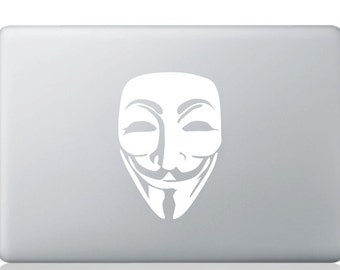 Anonymous Mask Laptop Decal Laptop Sticker MacBook Decal