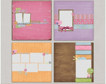 Spring At Last Quick Pages - Digital Scrapbooking Premade Layouts