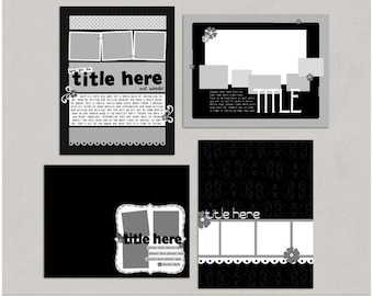 Sample Pack 25 - 8.5x11 Digital Scrapbooking Templates