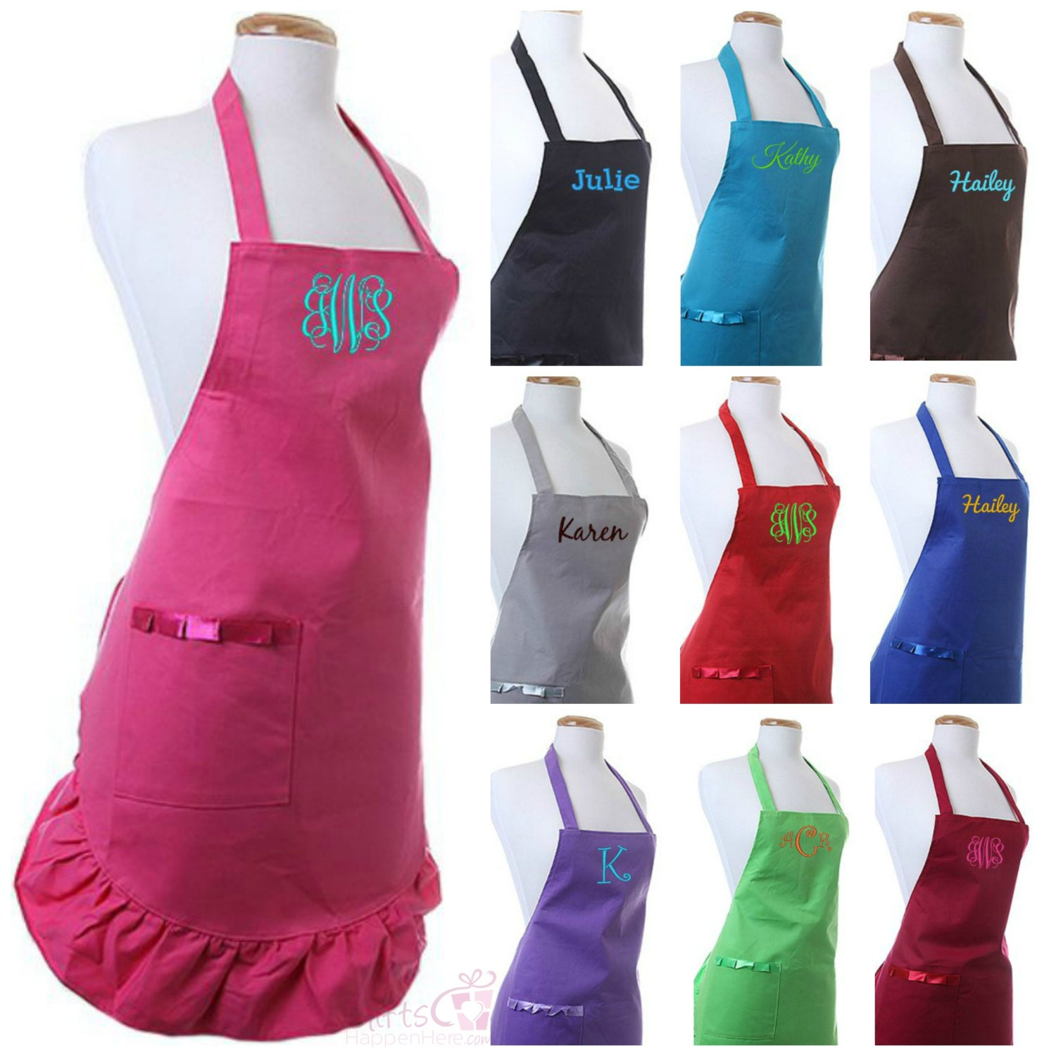 Personalized Apron Custom Monogrammed Embroidered Name Chef