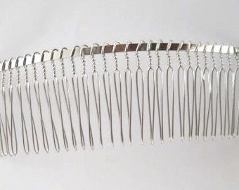 Metal veil  comb 30 teeth