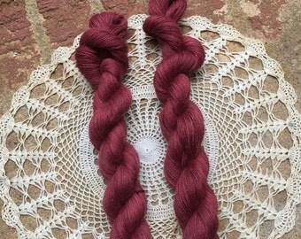 Alpaca Laceweight Yarn in Rose Brick