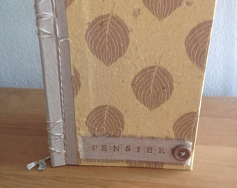 Bound Diary by hand from recycled paper