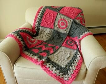 Baby Blanket- Patchwork Granny Square Afghan