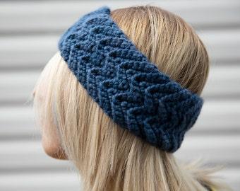 Chevron Headband- Crochet Ear Warmer