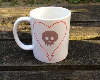 "Heartskull ""your coffee or mine"" Alkaline Trio mug"