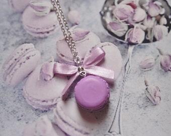necklace lavander macaron