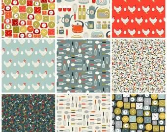 Lila's Kitchen - Fat Quarter Bundle by Makover U K for Andover Fabrics
